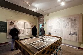 "View of the exhibition ""Reconstruction Disputes"", 7th edition of Warsaw Under Construction festival. Photo by B. Stawiarski"